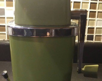 Swing-A-Way avocado green, ice crusher.