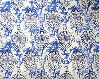 Indigo blue Indian cotton  fabric, blue  floral cotton fabric, grey sewing fabric, white dress material, summer dresses, half yard