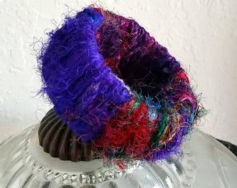 Sari Silk Wire Wrapped Bracelet