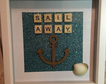 Sail away 3D glitter frame