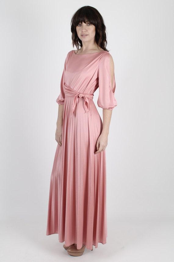 Rosa Kleid 70er Jahre Kleid Boho Kleid griechischen Kleid