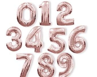 ROSE Gold Jumbo Balloon Number/ foil balloon/ number balloons