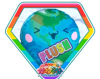 Kawaii Cute Earth West Hemisphere Plush