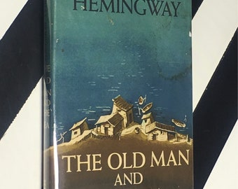 The Old Man and the Sea by Ernest Hemingway (1972) hardcover book
