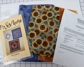 Cotton Patchwork Sunflower Wreath Wall Quilt Kit