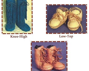 Infant-Toddler & Child's-Keltoi Indian Moccasin - 3 Styles - SparrowHawk Sewing-Pattern # Y007
