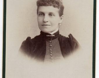 Harrisburg Pennsylvania Cabinet Card Studio Portrait Of A Victorian Woman Antique Photo Fashionable Lady Vintage Photograph
