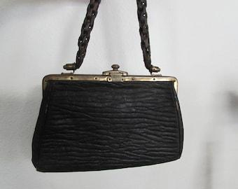 Edwardian Braided Leather Handbag Purse