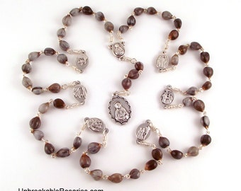 Seven Sorrows of Mary Job's Tear Servite Rosary Beads by Unbreakable Rosaries
