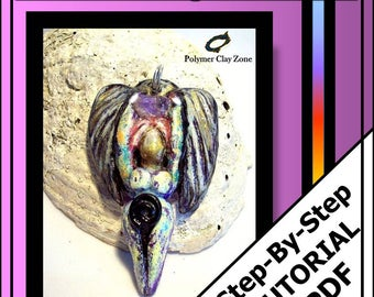 Polymer clay tutorial, Goddess Angel Pendant, spiritual pendant, pdf jewelry tutorial in English,  instant download