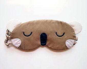 Koala Sleep Mask Koala Eye Mask Sleeping Koala Eyemask Wombat Sleep Eye Mask Cute Animal Mask Cosplay Mask Travel Flight Mask - CAMEL COLOR