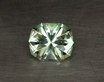 Prasiolite Huge Genuine Natural Green Amethyst Loose Modern Cushion Cut Brilliant Precision Gemstone