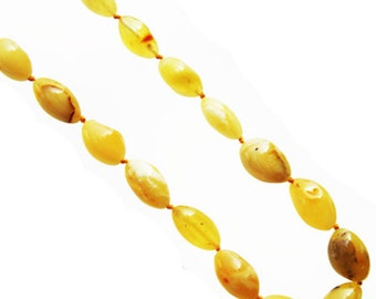 Elegant Baltic Cognac or Butterscotch Amber Necklace 2001  comes in a lovely gift box