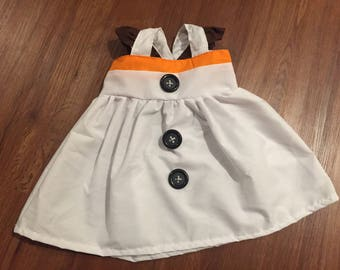 Frozen Olaf Snowman Inspired Girls, Toddler, Baby, and Infant Play Dress