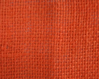 "Orange Burlap Fabric 60"" Wide Per Yard"