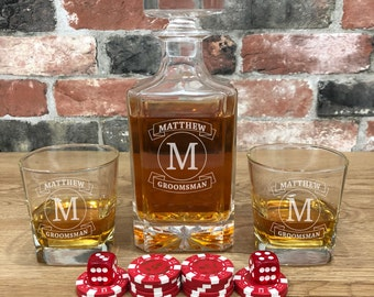 Personalized Whiskey Decanter - Whiskey Decanter - Engraved Decanter Set - Gifts for Best Man - Boyfriend Gift - Whiskey Set - Decanters