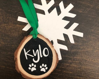 Christmas ornament for pet, pet ornament, rustic wood ornament, wood christmas ornament, pet ornament, cat ornament, dog ornament, custom
