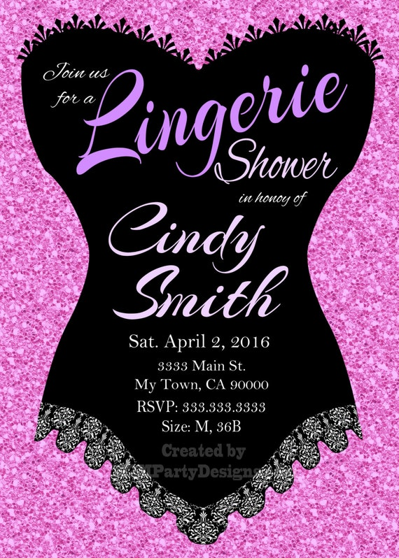 Lingerie Shower Invitation Something Sexy sweet chalkboard