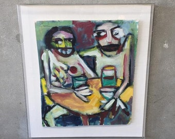 Modern Painting by Puerto Rican Artist Enoc Perez (5RC8QN)