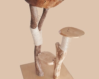 Noble tree, nature, 100% solid wood, cat tree
