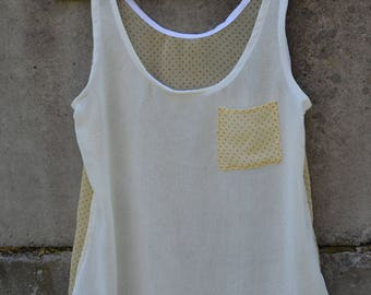 Lili - tank top made of recycled fabrics
