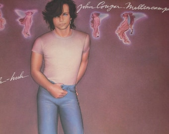 John Cougar Mellencamp record album, John Cougar Uh-huh vintage vinyl record