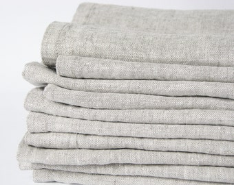 Softened linen napkins set of 10- table serving- rustic weddings- eco friendly- handmade