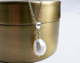 Ivory Freshwater Baroque Pearl Pendant