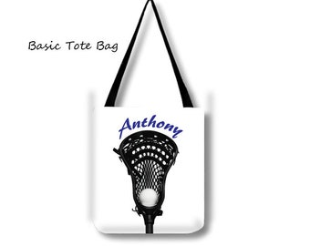 Lacrosse Tote-Personalized Tote-Weekend Bag-Custom Sports Bag-Adjustable Tote Bag-Shoulder Tote Bag-Lacrosse Bag-Travel Tote-LaX Tote