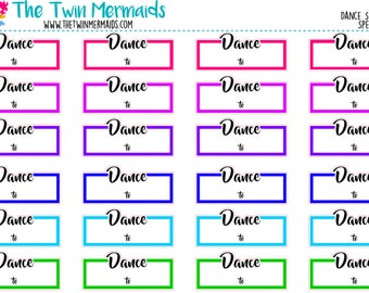 Dance Schedule in Spectrum Planner Stickers
