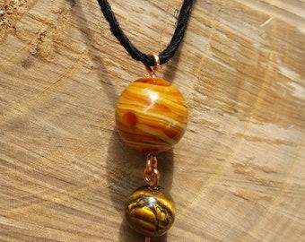 Jupiter Adjustable Necklace with Tiger's Eye Charm