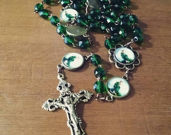 St Jude Pater and Center Bronze Catholic Handmade Rosary