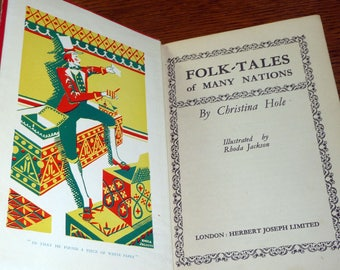 Folk-Tales of Many Nations by Christina Hole 1948 Hardcover HC Herbert Joseph Ltd London Legends Myth
