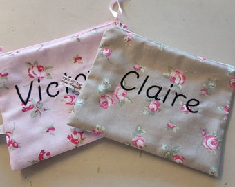 Handmade Personalised Make up Pouch