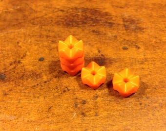 Plastic Orange bead