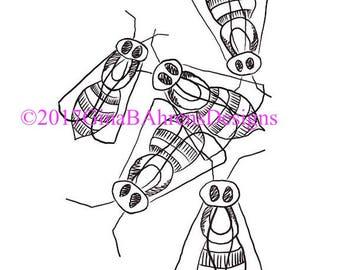 Digi Stamp Sketchy Bundle #3