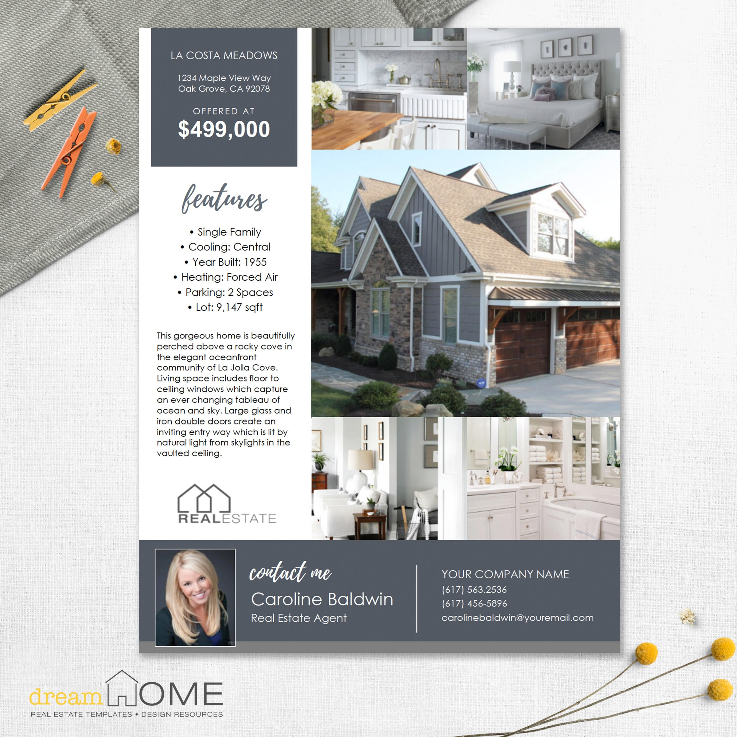 Real Estate Flyer Template Real Estate Flyer US Ltr And A4