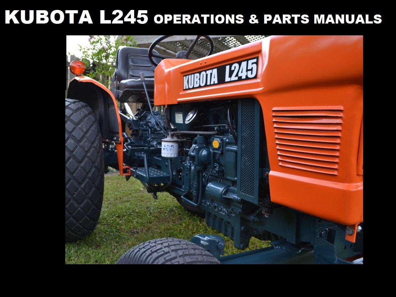 KUBOTA L245 L245DT L 245 piezas y manuales de operaciones para