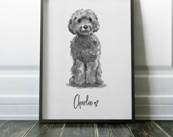 Personalised Cockapoo Print | Cockapoo Print | Dog Print | Dog Printable | Cockapoo Printable | Dog Decor | Pet Portrait | Dog Portrait