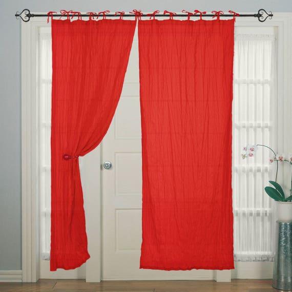 Krawatte Top Baumwolle Paspeln rot Fenster & Tür Vorhang für