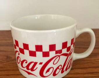 Coco-Cola Checkered Board* Collectors Coffee Mug By Gibson*1996
