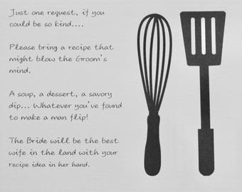 Personalized Recipe Card with Original Poem for Bridal Shower