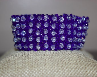 Blue and White Woven Bracelet
