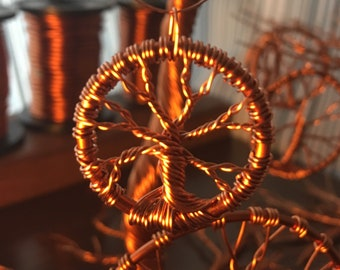 Necklace Pendant - Copper Tree design