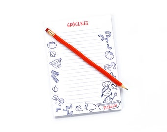 grocery list, teacher gift, notepad, to do list, note pad, mom gift