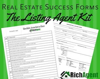 The Real Estate Listing Set - Black   Realtor   Real Estate Agent Planner   Real Estate Marketing   Real Estate Listing Agent