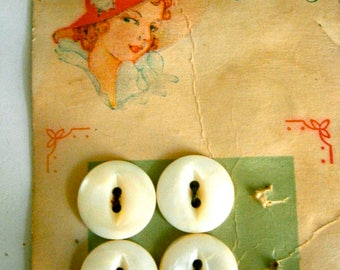 Luckyday 1940's shell pearl buttons