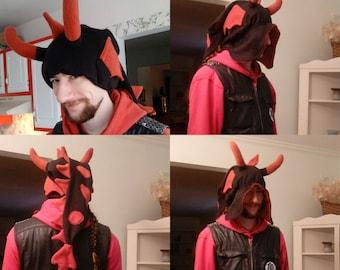 Fleece Dragon Hat Pattern