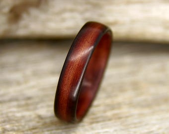 "Wood Ring - Size 9.75 - Shou Sugi Ban ""Torched Cedar"" Bentwood Ring - Handcrafted Bent Wood Ring - Custom Made - Wedding, Engagement, Etc"