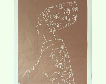 Lady with floral headpiece